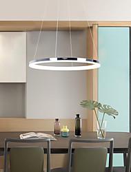 cheap -40cm LED Pendant Light Ring Nordic Circle Living Room Dining Room Bedroom Island Light Modern Contemporary Metal Acrylic 110-120V 220-240V