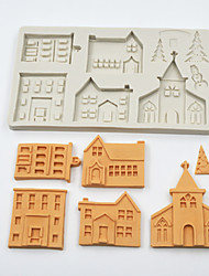 abordables -noël pain d'épice maison silicone moule fondant moule gâteau décoration outils chocolat gumpaste sugarcraft cuisine gadgets