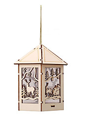 Недорогие -новинка милый деревянный дом свет водить елки на стене церкви деревня сцена с подсветкой светодиодные светящиеся кабины подвеска