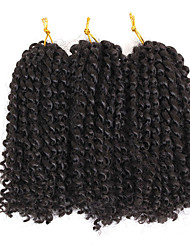 cheap -Braiding Hair Curly Extension Twist Braids Afro Kinky Braids Synthetic Hair 3 pack Hair Braids Light Brown Natural Color 8 inch Synthetic Best Quality Crochet Braids Christmas Gifts Halloween