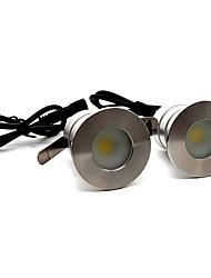 Недорогие -ONDENN 2pcs 3 W LED прожекторы / Подводное освещение / Свет газонные Водонепроницаемый / Творчество / Диммируемая Тёплый белый / Холодный белый 12 V Уличное освещение / Бассейн / двор 1