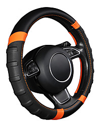 cheap -Car Steering Wheel Cover Breathable and Non Slip Microfiber Leather Steering Wheel Cover Universal 38cm/15 inch Orange and Black