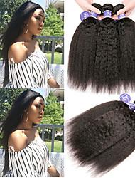 Недорогие -6 Связок Перуанские волосы Яки Вытянутые Не подвергавшиеся окрашиванию 100% Remy Hair Weave Bundles 300 g Головные уборы Человека ткет Волосы Пучок волос 8-28 дюймовый Нейтральный