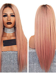 cheap -Synthetic Wig kinky Straight Middle Part Wig Ombre Long Orange Synthetic Hair 26 inch Women's Women Ombre
