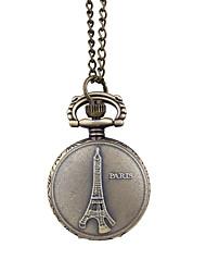 cheap -Women's Quartz Watches Eiffel Tower Vintage Bronze Alloy Chinese Quartz Dark Green Hollow Engraving Creative 1 pc Analog One Year Battery Life