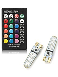 cheap -1 set 2 W LED Smart Bulbs 250 lm T10 T10 6 LED Beads SMD 5050 Remote-Controlled Multi-colors 12 V