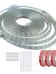 cheap -KWB 15m Flexible LED Light Strips 900 LEDs SMD5050 10mm 1Set Mounting Bracket Warm White / White / Red Waterproof / Cuttable / Decorative 220-240 V 1 set