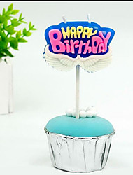 cheap -Cake Topper Creative / Birthday Universal Other Material Anniversary / Birthday with Color Block 1 pcs OPP