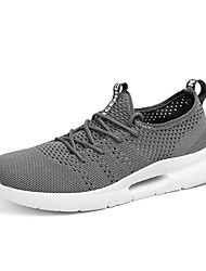 cheap -Men's Light Soles Tissage Volant Spring & Summer Sporty Athletic Shoes Running Shoes Breathable Black / Black and White / Gray