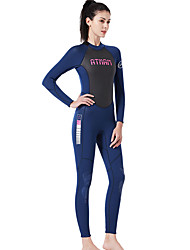 cheap -Dive&Sail Women's Full Wetsuit 3mm SCR Neoprene Diving Suit Thermal / Warm High Elasticity Long Sleeve Back Zip - Diving Water Sports Patchwork Autumn / Fall Spring Summer