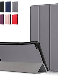 Недорогие -Кейс для Назначение Lenovo Lenovo Tab E8 (TB-8304F) / Lenovo Tab E7 (TB-7104) / Lenovo Tab 7 Essential Защита от удара / Флип / Оригами Чехол Однотонный Твердый Кожа PU