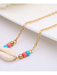 cheap -Women's Ivory Charm Necklace Lucky Shell Puka Shell Simple Classic Ethnic Sweet Shell Cowrie Shell Gold Silver 50 cm Necklace Jewelry 1pc For Gift Daily Street Holiday Festival