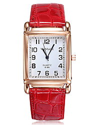 cheap -Women's Quartz Watches Quartz Formal Style Elegant Casual Watch Analog White Black Red / One Year / Stainless Steel / PU Leather / One Year
