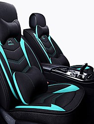 cheap -Car Seat Covers Headrest & Waist Cushion Kits Black / Green / Black / Red / Black / Blue synthetic fibre / Polyester Fabric Business For universal All years General Motors