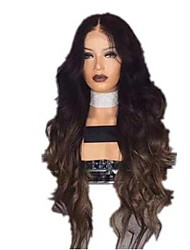 cheap -Costume Accessories Curly With Bangs Wig Medium Length Black / Brown Synthetic Hair 65 inch Women's Women Black Brown