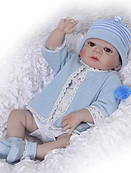 cheap -FeelWind 22 inch Reborn Doll Baby Girl Reborn Baby Doll Kids / Teen with Clothes and Accessories for Girls' Birthday and Festival Gifts