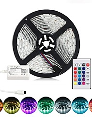 cheap -BRELONG LED TV Backlight Patch 5050 10mm RGB 1M 30LED Flexible Multicolor IP65 Epoxy Waterproof Infrared Controller 24Keys Remote Halloween Decoration TV Computer Background Lighting