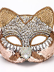 cheap -Sequin Cosplay Costume Mask Eye Mask Inspired by Catwoman Black Yellow Cosplay Halloween Halloween Carnival Masquerade Adults' Men's Women's