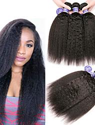 Недорогие -6 Связок Индийские волосы Яки Вытянутые Необработанные натуральные волосы 100% Remy Hair Weave Bundles 300 g Человека ткет Волосы Пучок волос One Pack Solution 8-28 дюймовый Нейтральный