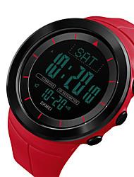 Недорогие -SKMEI Муж. электронные часы Цифровой силиконовый Черный / Синий / Красный 50 m Защита от влаги Календарь С двумя часовыми поясами Цифровой На открытом воздухе Мода - Зеленый Синий Хаки