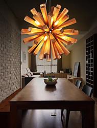 cheap -10-Light 52 cm LED Pendant Light Wood / Bamboo Wood / Bamboo Others Country 110-120V / 220-240V