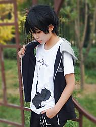 cheap -Inspired by SAO Swords Art Online SAO Alicization Cosplay Kirigaya Kazuto Anime Cosplay Costumes Japanese Cosplay Tops / Bottoms Anime Sleeveless Vest For Unisex