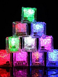 cheap -12pcs Color Changing Glow Led Ice Cube Led Submersible Light Flash Light for Party Bar Wedding