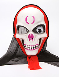 cheap -Cosplay Costume Mask Halloween Mask Inspired by Skeleton / Skull Scary Movie White Cosplay Halloween Halloween Carnival Masquerade Adults' Men's Women's