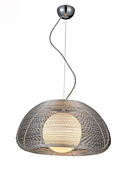 cheap -1-Light 43 cm Pendant Light Metal Glass Globe Chrome Globe / Modern 110-120V / 220-240V