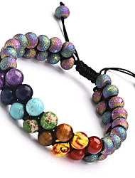 cheap -Women's Yoga Bracelet Classic Rainbow Stylish Basketwork Bracelet Jewelry Black / Blue / AB White Color For Gift Daily