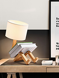 cheap -Modern Contemporary / Novelty Adjustable / Lovely Table Lamp For Living Room / Bedroom Wood / Bamboo 110-120V / 220-240V