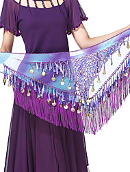 cheap -Belly Dance Hip Scarves Women's Training / Performance Terylene Gold Coin / Tassel / Paillette Characters Hip Scarf