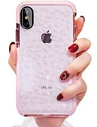 Недорогие -Кейс для Назначение Apple iPhone XS / iPhone XR / iPhone XS Max Защита от удара Кейс на заднюю панель Полосы / волосы Мягкий ТПУ