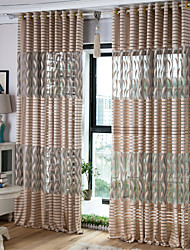 cheap -Contemporary Sheer One Panel Sheer Living Room   Curtains