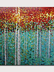 cheap -Mintura® Hand Painted Abstract Knife Trees Oil Paintings On Canvas Modern Wall Art Picture For Home Decoration Ready To Hang