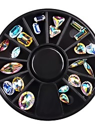 cheap -22 pcs Classic / High Transparency Crystal Nail Jewelry For Finger Nail Jewelry Series nail art Manicure Pedicure Daily / Festival Fashion / Colorful
