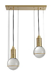 cheap -ZHISHU 2-Light 20 cm Pendant Light Metal Cluster / Industrial Brass Contemporary / Chic & Modern 110-120V / 220-240V