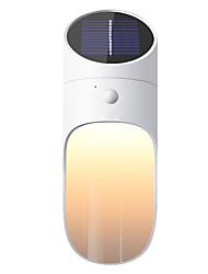 Недорогие -1шт 0.5 W Солнечный свет стены Работает от солнечной энергии / Новый дизайн / Декоративная Тёплый белый 3.7 V 1 Светодиодные бусины