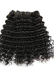 cheap -4 Bundles Brazilian Hair Deep Wave Virgin Human Hair Natural Color Hair Weaves / Hair Bulk Bundle Hair One Pack Solution 8-28inch Natural Color Human Hair Weaves Waterfall Odor Free Anime Human Hair