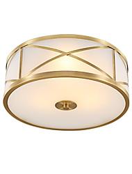 cheap -JSGYlights 4-Light 45 cm New Design Flush Mount Lights Copper Glass Brass Modern 110-120V / 220-240V / E26 / E27