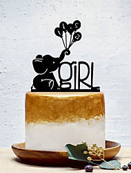 cheap -Cake Topper Classic Theme / Creative / New Baby Artistic / Retro / Unique Design Acrylic Birthday with Solid 1 pcs OPP