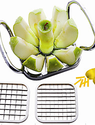 cheap -5 in 1 Kitchen Gadgets Stainless Steel Vegetable Fruit Cutter Shredders Potato Chips Apple Pear French Fries Cutter