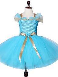 cheap -Jasmine Inspired Girls Tutu Dress Turquoise Children Halloween Aladdin Princess Costume