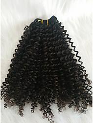 cheap -Braiding Hair Curly Extension Human Hair 1 Piece Hair Braids Black 18 inch 18 inch Sexy Lady Work Mongolian Hair