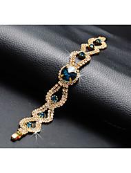cheap -Women's Blue Chain Bracelet Classic Precious Stylish Luxury Rhinestone Bracelet Jewelry Blue For Wedding Festival