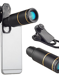 cheap -Mobile Phone Lens Long Focal Lens Glasses / Aluminium Alloy 10X and above 32 mm 3 m 9 ° Lens with Stand