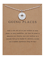 cheap -Women's Necklace Charm Necklace Silver Plated Chrome Silver 52.5 cm Necklace Jewelry 1pc For Daily Holiday School Street Festival