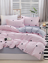 cheap -Duvet Cover Sets Geometric Polyster Printed 4 PieceBedding Sets