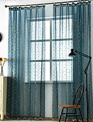 cheap -Contemporary Sheer One Panel Sheer Living Room   Curtains / Embroidery