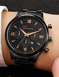 cheap -Men's Dress Watch Aviation Watch Quartz Stainless Steel Black / Gold / Rose Gold Casual Watch Analog Fashion - Golden+Black Rose Gold Black / Rose Gold One Year Battery Life
